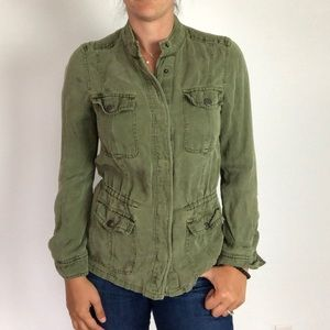 Lucky Brand Green Fall Zip Up Utility Jacket